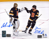 David Pastrnak & Tuukka Rask Signed Bruins 8x10 Photo (Bergeron COA & Rask COA) at PristineAuction.com