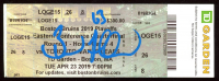 Brad Marchand Signed 2019 Bruins Eastern Conference Quarterfinal Game 4 Playoff Ticket (Marchand COA) at PristineAuction.com