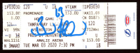 Brad Marchand Signed 2020 Bruins Ticket (Marchand COA) at PristineAuction.com