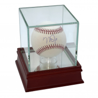 Mike Trout Signed OML Baseball with Display Case (MLB Hologram) at PristineAuction.com