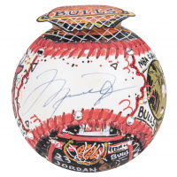Michael Jordan & Charles Fazzino Signed Hand-Painted Baseball (UDA Hologram) at PristineAuction.com