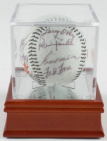 Orioles All-Star Logo Baseball Team-Signed by (13) With Willie Mays, Bob Gibson, Larry Doby, Joe Garagiola With Display Case (PSA LOA) at PristineAuction.com