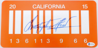 "Christopher Lloyd Signed ""Back to the Future"" California License Plate (Beckett COA) at PristineAuction.com"