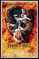 "Kane Hodder Signed ""Jason Goes To Hell: The Final Friday"" 11x17 Print Inscribed ""Jason 7,8,9,X"" (Legends COA) at PristineAuction.com"