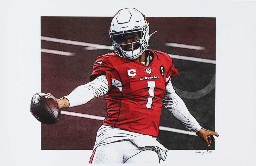 Kyler Murray - Cardinals - Jeff Lang 11x17 Signed Limited Edition Art Print #/5 (PA COA) at PristineAuction.com