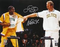 Magic Johnson & Larry Bird Signed 11x14 Photo (Beckett COA) at PristineAuction.com