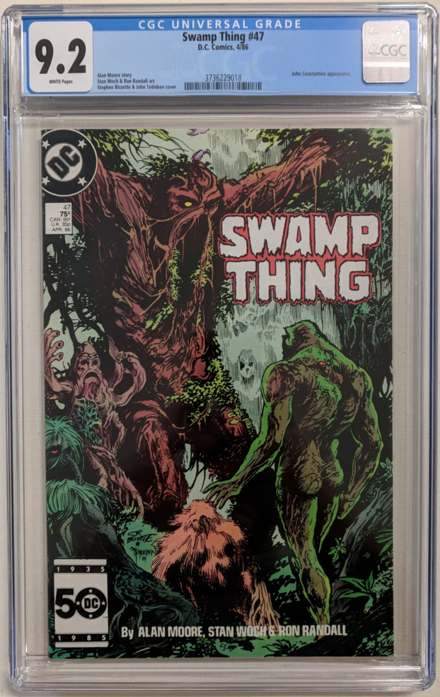 """1986 """"Swamp Thing"""" Issue #47 DC Comic Book (CGC 9.2) at PristineAuction.com"""