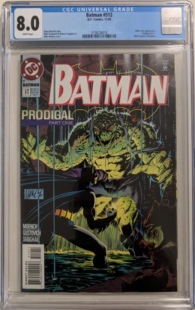"1994 ""Batman"" Issue #512 DC Comic Book (CGC 8.0) at PristineAuction.com"