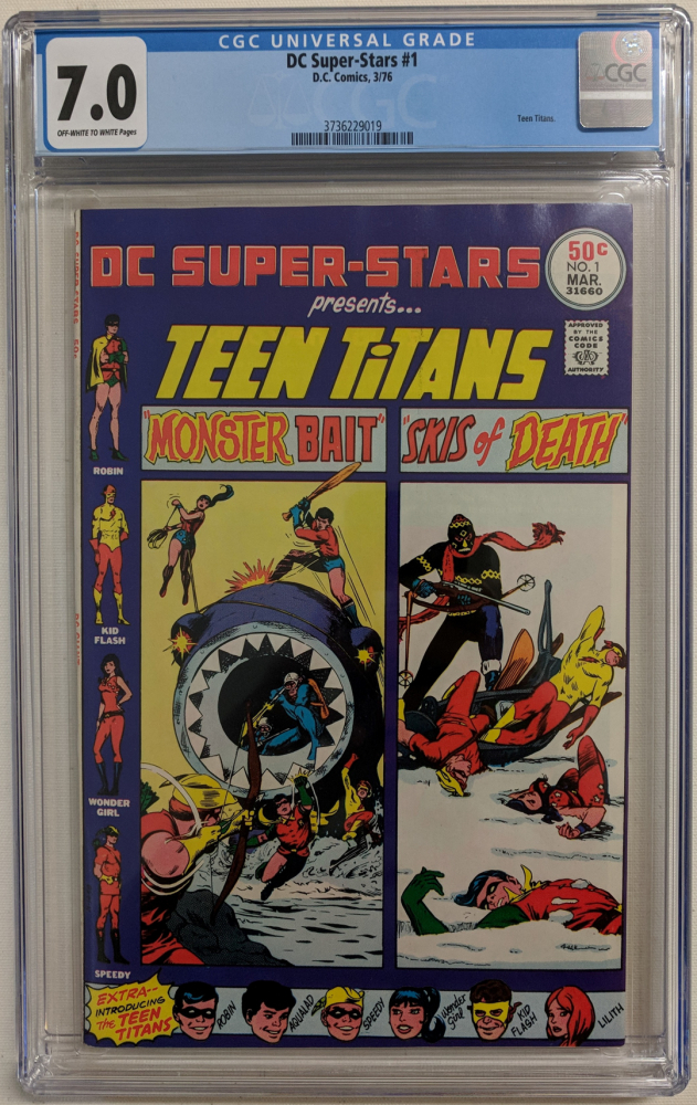 "1976 ""DC Super-Stars"" Issue #1 DC Comic Book (CGC 7.0) at PristineAuction.com"