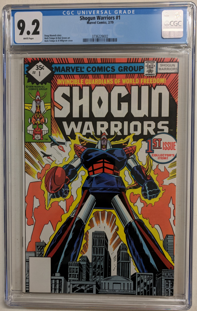 "1979 ""Shogun Warriors"" Issue #1 Marvel Comic Book (CGC 9.2) at PristineAuction.com"