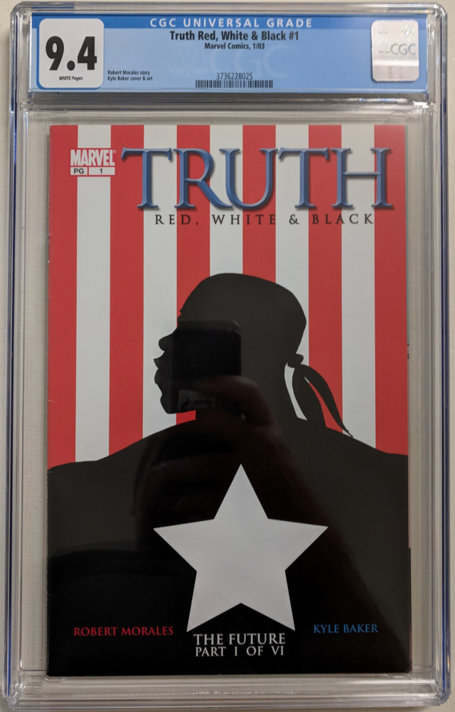 """2003 """"Truth Red, White & Black"""" Issue #1 Marvel Comic Book (CGC 9.4) at PristineAuction.com"""