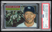 Mickey Mantle 1996 Topps Mantle Finest #6 1956 Topps Reprint With Coating (PSA 9) at PristineAuction.com