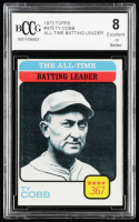 Ty Cobb 1973 Topps #475 All-Time Batting Leader (BCCG 8) at PristineAuction.com