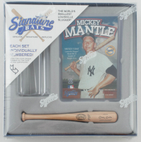 Mickey Mantle LE Factory Sealed Signature Bats Set with Mini Louisville Slugger Player Model Bat & Trading Card at PristineAuction.com