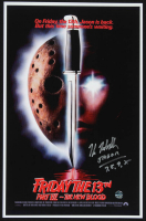 "Kane Hodder Signed ""Friday The 13th Part XII: The New Blood"" 11x17 Print Inscribed ""Jason 7,8,9,X"" (Legends COA) at PristineAuction.com"