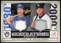 Robin Yount / Derek Jeter 2008 SP Legendary Cuts Generations Dual Memorabilia #YJ at PristineAuction.com