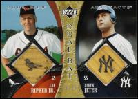 Cal Ripken Jr. / Derek Jeter 2005 Artifacts Dual Artifacts Bat #RJ #19/25 at PristineAuction.com