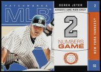 Derek Jeter 2003 Fleer Patchworks Numbers Game Jersey #DJ at PristineAuction.com