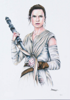 "Thang Nguyen - Rey - ""Star Wars"" - 8x12 Signed Limited Edition Giclee on Fine Art Paper #/50 at PristineAuction.com"