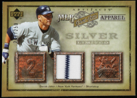 Derek Jeter 2006 Artifacts MLB Game-Used Apparel Silver Limited #DJ Jersey #208/250 at PristineAuction.com