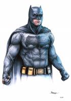 "Thang Nguyen - Batman - ""Batman v Superman"" - DC Comics - 8x12 Signed Limited Edition Giclee on Fine Art Paper #/50 at PristineAuction.com"