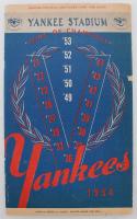Vintage 1954 Yankees Stadium Program at PristineAuction.com