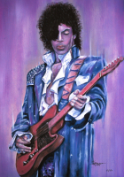 """Thang Nguyen - Prince - """"Purple Rain"""" - 8x12 Signed Limited Edition Giclee on Fine Art Paper #/50 at PristineAuction.com"""