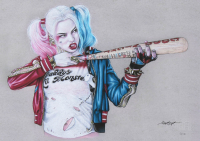 "Thang Nguyen - Harley Quinn - ""Suicide Squad"" - DC Comics - 8x12 Signed Limited Edition Giclee on Fine Art Paper #/50 at PristineAuction.com"