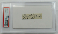 "Richard Nixon Signed 3x5 Cut Dated ""6-23-80"" (PSA Encapsulated) at PristineAuction.com"
