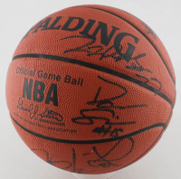 2005-06 Hawks Laser Engraved Official NBA Game Ball Team-Signed by (14) with Joe Johnson, Josh Smith, Al Harrington, Marvin Williams (PSA LOA) at PristineAuction.com