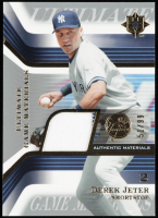 Derek Jeter 2004 Ultimate Collection Game Materials #DJ Jersey #51/75 at PristineAuction.com