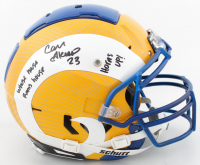"""Cam Akers Signed Full-Size Authentic On-Field Hydro-Dipped F7 Helmet Inscribed """"Whose House Rams House"""" & """"Horns Up!"""" (Beckett COA) at PristineAuction.com"""