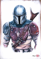 """Thang Nguyen - The Mandalorian - """"Star Wars"""" - 8x12 Signed Limited Edition Giclee on Fine Art Paper #/50 at PristineAuction.com"""