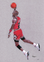 Thang Nguyen - Michael Jordan - Bulls - 8x12 Signed Limited Edition Giclee on Fine Art Paper #/50 at PristineAuction.com