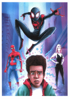 """Thang Nguyen - Miles Morales - """"Spider-Man: Into the Spider-Verse"""" - 8x12 Signed Limited Edition Giclee on Fine Art Paper #/50 at PristineAuction.com"""