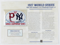 1927 World Series Patch with 9x12 Scorecard: Yankees vs. Pirates at PristineAuction.com