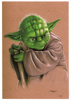 """Thang Nguyen - Yoda - """"Star Wars"""" - 8x12 Signed Limited Edition Giclee on Fine Art Paper #/50 at PristineAuction.com"""