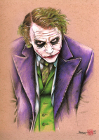 """Thang Nguyen - The Joker - Heath Ledger - Batman """"The Dark Knight"""" - DC Comics - 8x12 Signed Limited Edition Giclee on Fine Art Paper #/100 at PristineAuction.com"""