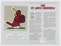 Official Cooperstown Collection 1956 Cardinals Patch Card with 9x12 Scorecard at PristineAuction.com