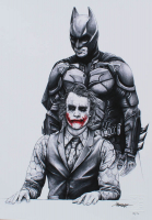 """Thang Nguyen - Batman & The Joker - """"The Dark Knight"""" - 8x12 Signed Limited Edition Giclee on Fine Art Paper #/50 at PristineAuction.com"""