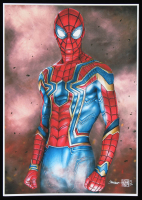 Thang Nguyen - Iron Spider - Spider-Man - The Avengers - 8x12 Signed Limited Edition Giclee on Fine Art Paper #/50 at PristineAuction.com