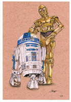 """Thang Nguyen - R2-D2 & C-3PO - """"Star Wars"""" - 8x12 Signed Limited Edition Giclee on Fine Art Paper #/50 at PristineAuction.com"""
