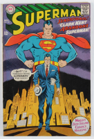 "Vintage 1967 ""Superman: Clark Kent Abandons Superman!"" Issue #201 DC Comic Book at PristineAuction.com"