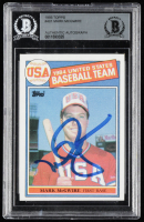 Mark McGwire Signed 1985 Topps #401 OLY RC (BGS Encapsulated) at PristineAuction.com