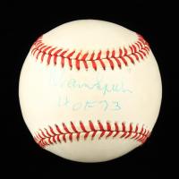 "Warren Spahn Signed ONL Baseball Inscribed ""HOF 73"" (PSA COA) at PristineAuction.com"