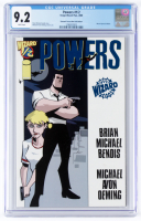 "2001 LE ""Powers"" Issue #1/2 Dynamic Forces Exclusive Blue Foil Edition Wizard Comic Book (CGC 9.2) at PristineAuction.com"