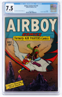 "1945 ""Airboy Comics"" Volume 2 Issue #11 Hillman Comic Book (CGC 7.5) at PristineAuction.com"