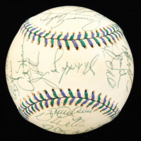 Official 1998 All-Star Game Baseball Team-Signed by (33) with Derek Jeter, Ken Griffey Jr., Alex Rodriguez, Cal Ripken Jr., Jim Thome, Roger Clemens (PSA LOA) at PristineAuction.com