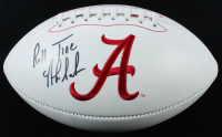 "Nick Saban Signed Alabama Crimson Tide Logo Football Inscribed ""Roll Tide"" (Beckett Hologram) at PristineAuction.com"