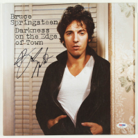 "Bruce Springsteen Signed ""Darkness on the Edge of Town"" Vinyl Record Album Cover (PSA LOA) at PristineAuction.com"